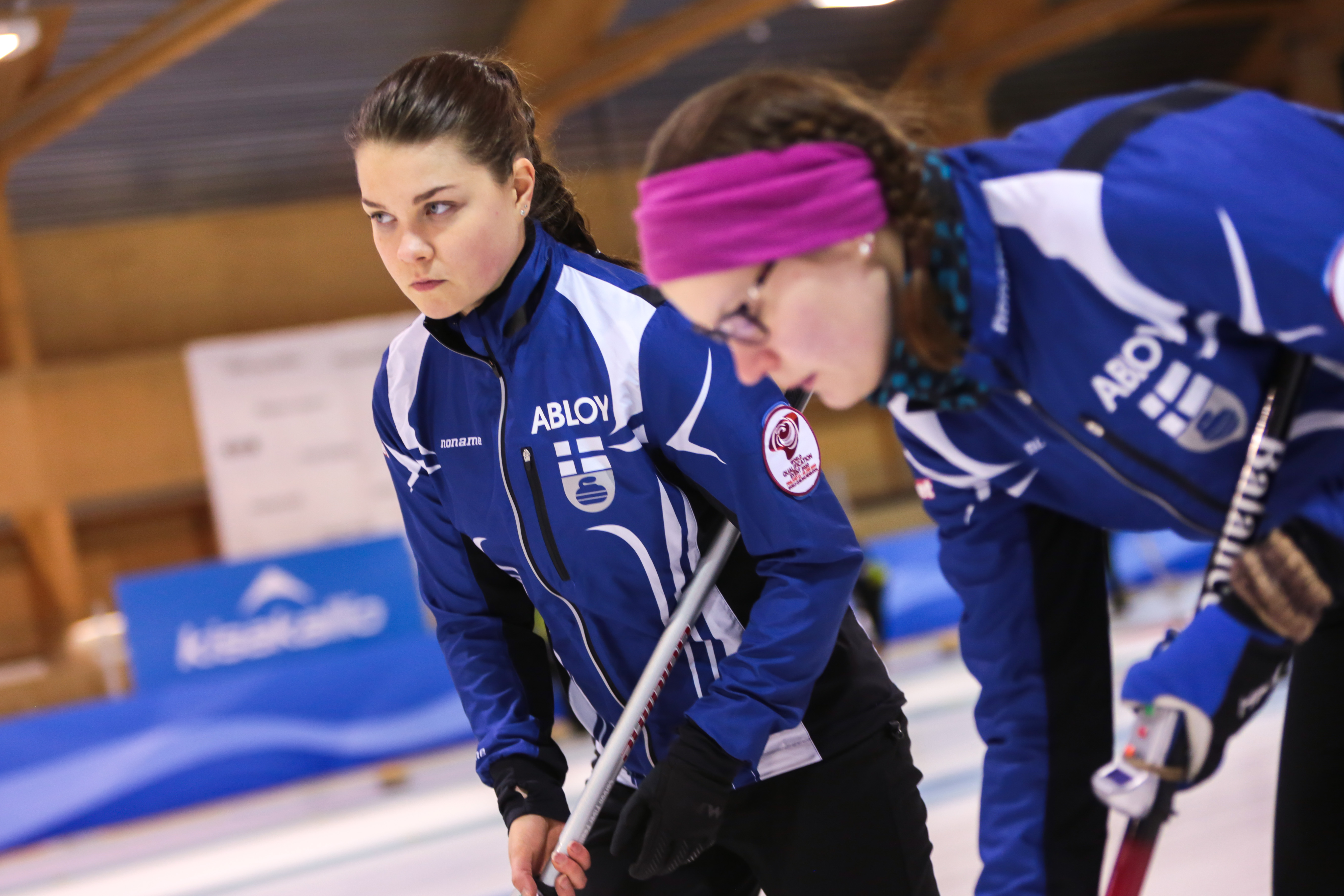 Finnish ladies in action in the 2020 World Qualificion Event (Photo: WCF/Tom Rowland)